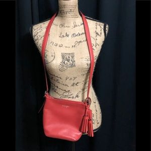 Coach Red Leather Crossbody